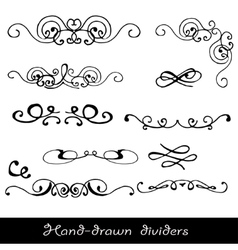 Hand drawn line border vector image