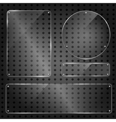 Set of transparent blank glass panels vector image vector image
