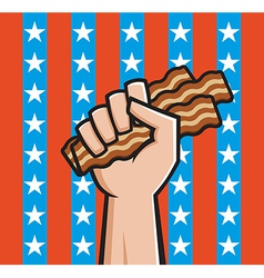 American bacon vector