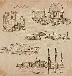 Antarctica Travel around the World drawings vector