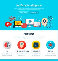 Artificial intelligence website design vector