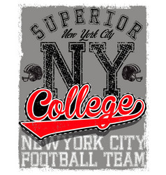 Athletic dept new york varsity sport print and vector