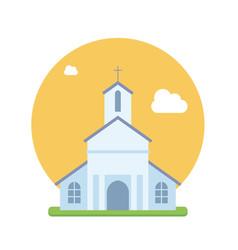 beautiful church flat vector image