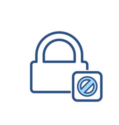 Blocked lock office icon vector