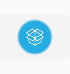box icon sign symbol vector image