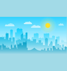 cityscape day landscape with buildings skyline vector image