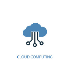 cloud computing concept 2 colored icon simple vector image