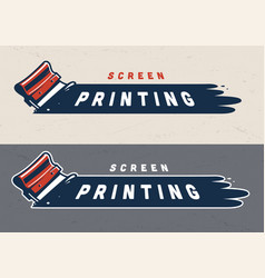 colorful screen printing concept vector image