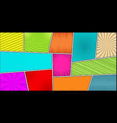 comic book horizontal bright background vector image