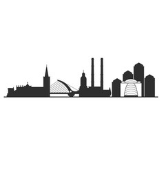 dublin city skyline - cityscape of capital vector image