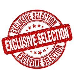 exclusive selection stamp vector image vector image