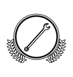 figure symbol wrench icon image vector image