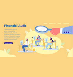 Financial audit people sitting at workplaces vector