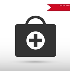 First aid kit Black icon and jpg Flat vector image