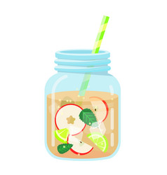 fruit water icon freshness and summer beverage vector image