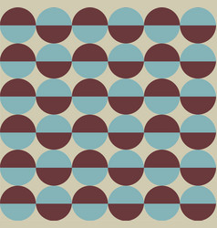 Geometric pattern with two coluored circles vector