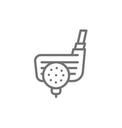 golf ball with putter traditional english sport vector image