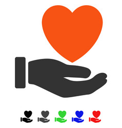 Heart charity flat icon vector