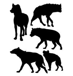hyena animal silhouette vector image