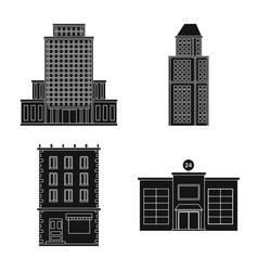 isolated object of modern and estate icon set of vector image