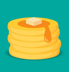 Isometric icon of pancakes vector