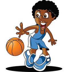 Junior basketball player vector
