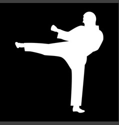 karate man it is the white color icon vector image