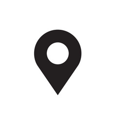 Location - black icon on white background vector