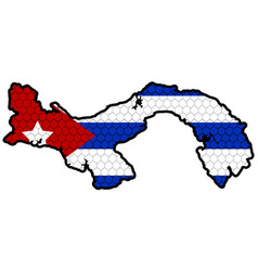 map of cuba vector image