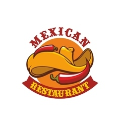 Mexican restaurant icon emblem vector
