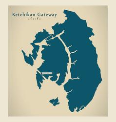 Modern map - ketchikan gateway alaska county usa vector