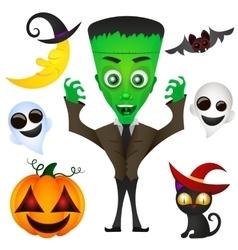 monster Halloween vector image