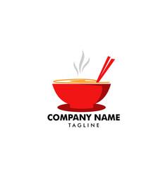 Noodle logo design icon template vector
