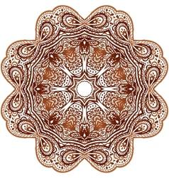 Ornate ethnic henna colors mandala vector image