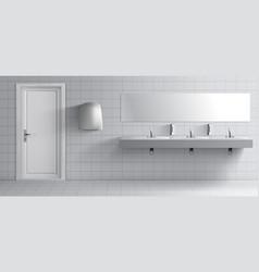 Public toilet room 3d realistic interior vector