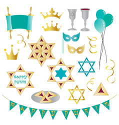 Purim clipart vector