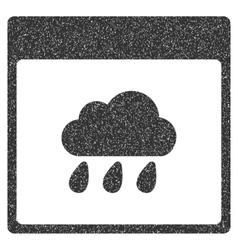 Rain Cloud Calendar Page Grainy Texture Icon vector
