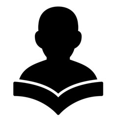 reader student flat icon vector image