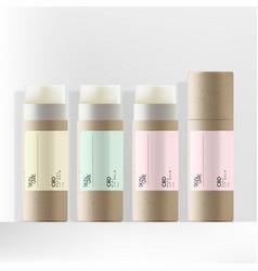 Recycled kraft paper cbd lip balm packaging vector