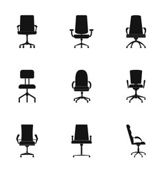 seat icons set simple style vector image
