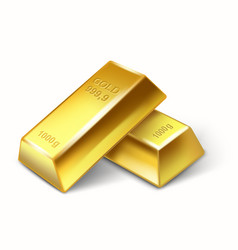 Set of gold bars vector