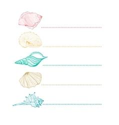 set seashells vector image