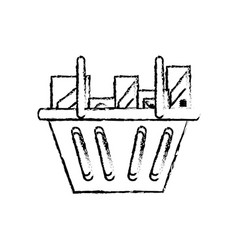 shopping basket design vector image