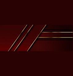 Simple luxury red background combined with golden vector