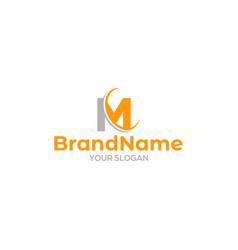 Simple mc logo design vector