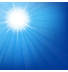 Sky With Sunburst vector image