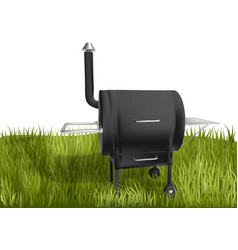 Smoker barbecue on grass vector