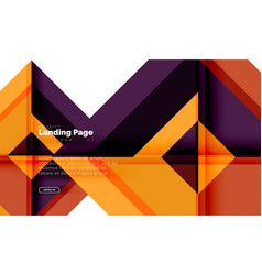 square shape geometric abstract background vector image