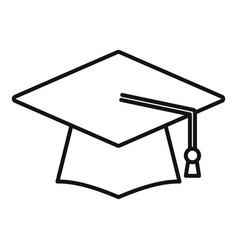 Study graduation hat icon outline college vector