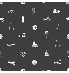 Summer sports and equipment icon pattern eps10 vector